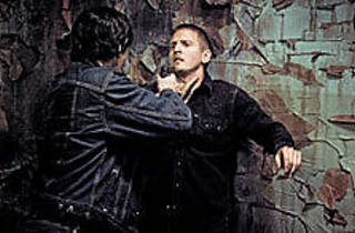 WALL COWER Barry Pepper tries to keep cool.