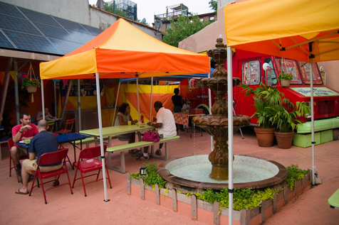 Watch movies outdoors at Habana Outpost