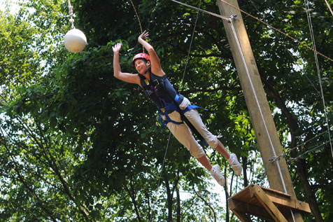 Scream at Alley Pond Park Adventure Course