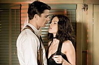 FLESH FOR FANTASY Swank hopes her man's into necro.
