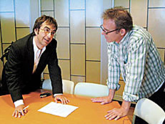 MAKING THE GRADE Director Atom Egoyan, left, and Dick swap notes.
