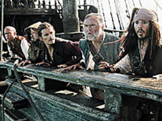 ABANDON SHIP Depp sees a storm a-risin'.
