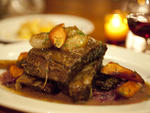 Short ribs with braised red cabbage, caraway  and dill