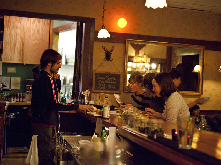 Take advantage of happy hour at Allswell