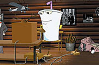 LACTOSE TOLERANT Master Shake takes the stand.