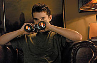 SEEING DOUBLE LaBeouf likes to watch.