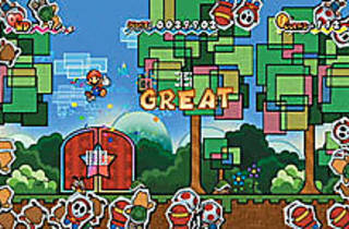 HOP TO IT Mario executes a signature move in his latest 2-D adventure.