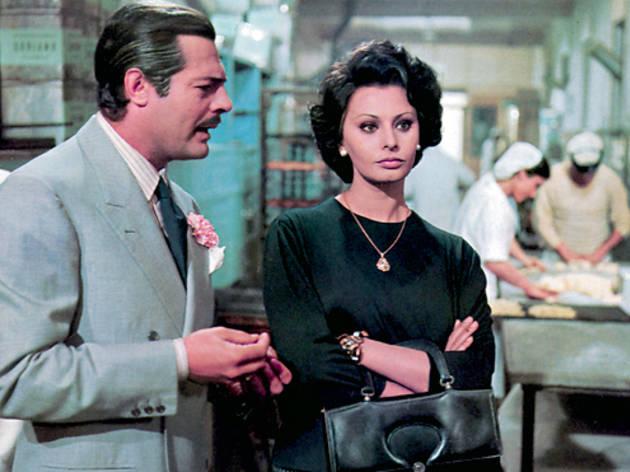 Marcello Mastroianni and Sophia Loren in Marriage, Italian Style
