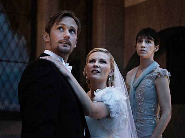 Alexander Skarsgrd, Kirtsen Dunst, center, and Charlotte Gainsbourg in Melncholia