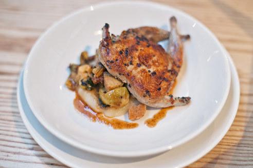 Roasted quail at L'Artusi
