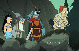 A LITTLE FROM GOLLUM A  Everybody's off to be the wizard in Futurama: Bender's Game.