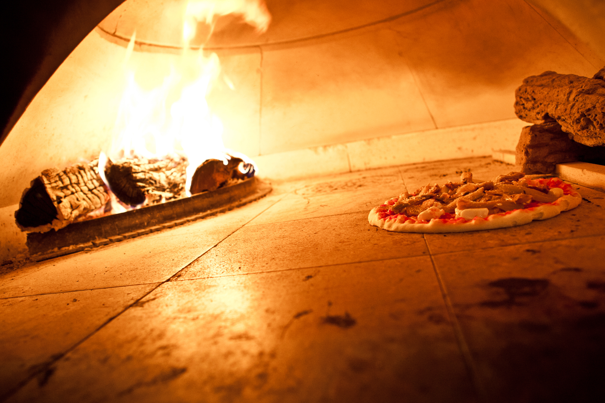 Northern Italian pizza at Basil Brick Oven Pizza