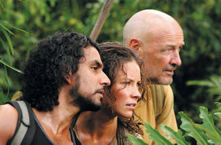 ISLANDS IN THE STREAM Naveen Andrews, Evangeline Lilly and Terry O'Quinn can rely on each other, ah-haaah, on Lost.
