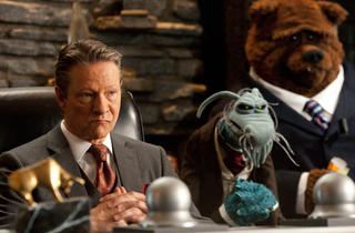 """""""THE MUPPETS""""BAD GUYS INC -- Tex Richman (CHRIS COOPER) is advised by his sinister second-in-command UNCLE DEADLY and his..."""