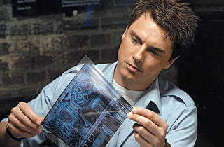 UNDER THE SKIN Barrowman scrutinizesan alien X-ray.