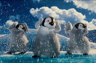 Penguins do a little soft-shoe in Happy Feet Two