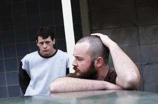 Lucas Pittaway, left, and Daniel Henshall in The Snowtown Murders