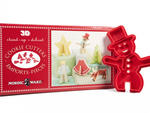 Nordic Ware 3-D Holiday Cookie Cutter Set Give your baking-fanatic friend a jump-start on the holiday-sweets season with this snappy kit. The 12 plastic cutters make figures and stands that fit together, so their snowman, tree, angel or reindeer can stand