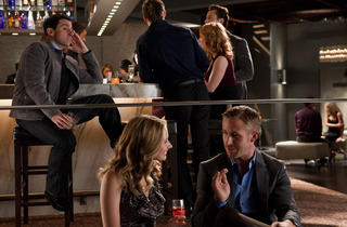 Steve Carell, Caitlin Thompson and Ryan Gosling in Crazy, Stupid, Love.