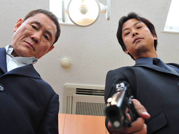 Takeshi Kitano, left, and Kippei Shiina in Outrage