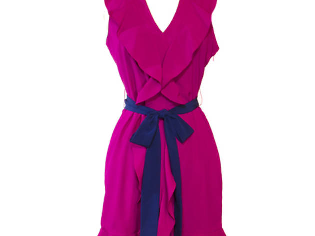 026a7a69c82 17 43 C.luce ruffled frock with contrasting sash