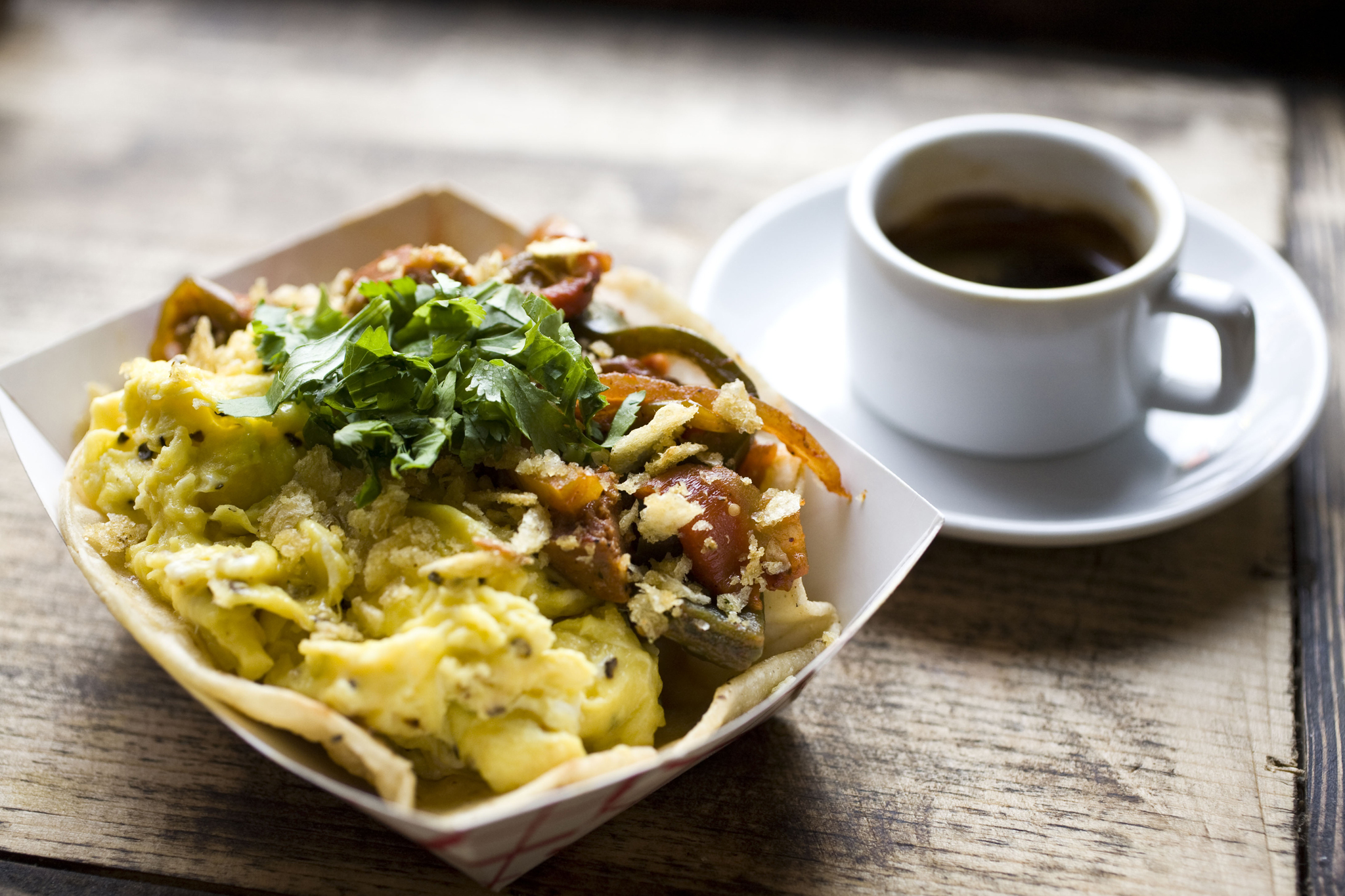 Have a great breakfast taco at Whirlybird
