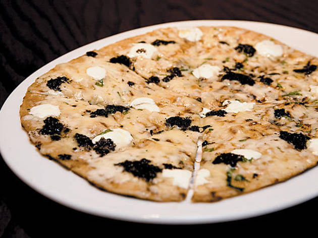 Robiola and black-truffle pizza