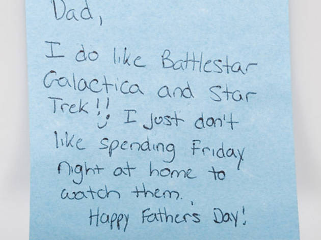 Sticky-note confessions: Father's Day