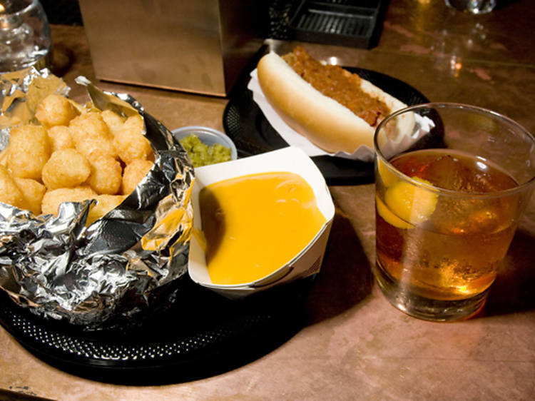 Pad your belly with a hot dog at PDT