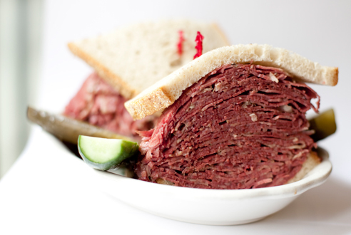 Hot corned beef at 2nd Ave Deli The classic sandwich is as appealing as ever at this legendary Jewish deli, relocated to Kips Bay. Slices of...