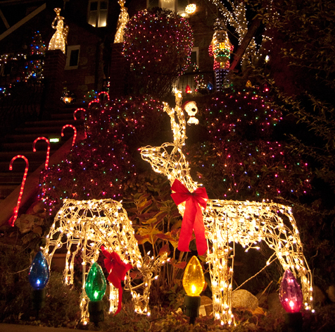 Christmas lights and decorations in New York