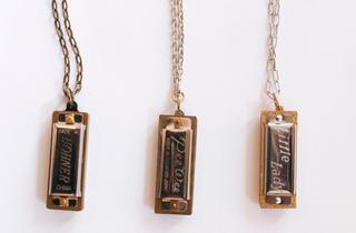 Erica Weiner harmonica necklaces, $40--$90, at Erica Weiner
