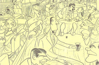 (Illustration: Courtesy Al Hirschfeld / Margo Feiden Gallery)