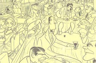 (Illustration: Courtesy Al Hirschfeld / Margo Feiden Gallery)