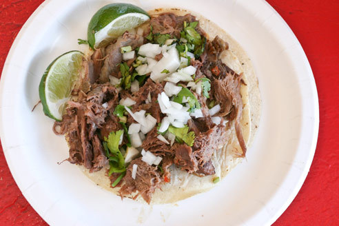 Barbacoa taco at El Aguila