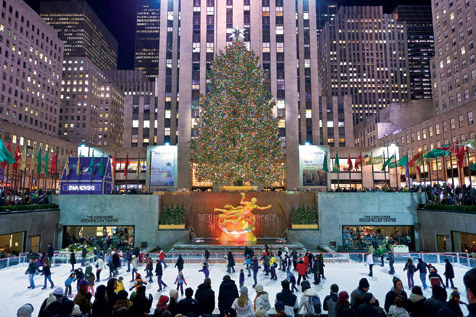 Blind yourself in the glorious illumination of the Rockefeller Center tree