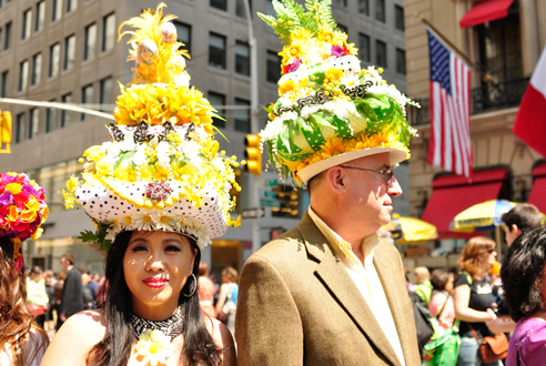 Wear a bonnet at the Easter Parade and Bonnet Festival