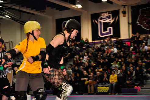 Marvel at the killer combination of puns and violence at Gotham Girls Roller Derby