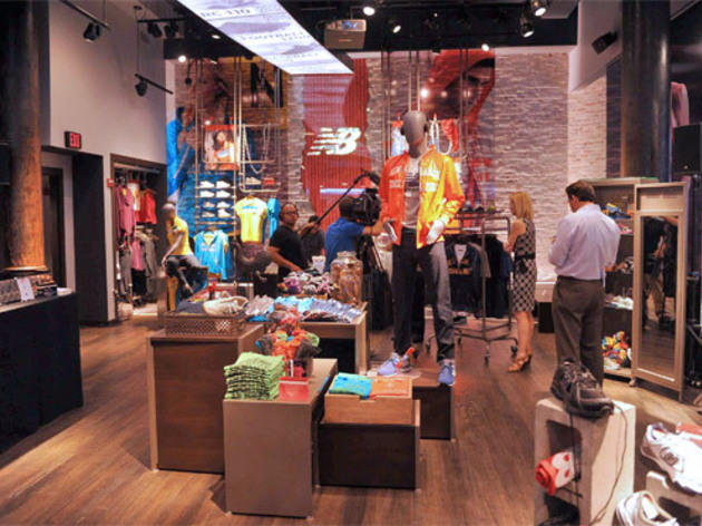NEW YORK, NY - AUGUST 10:  General view of atmosphere during the opening of the New Balance Experience Store on August 10, 2011 in New York City. ...