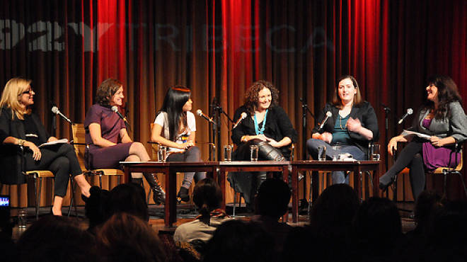 A 2010 panel on young feminism at 92YTribeca: Lesley Jane Seymour, Courtney E. Martin, Lena Chen, Shelby Knox, Allison Kasic, Naomi Wolf