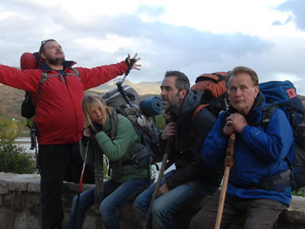 Yorick van Wagerningen, Deborah Kara Unger, James Nesbitt and Martin Sheen in The Way