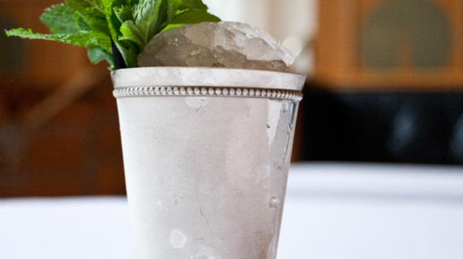 The Mint Julep at Eleven Madison Park. Featured in Cutting-edge cocktail trends.