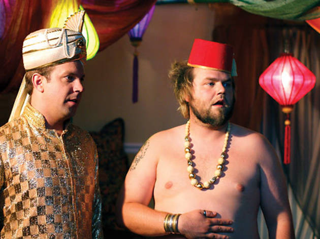 Jason Sudeikis and Tyler Labine in A Good Old-Fashioned Orgy