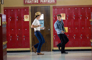 Miles Teller, left, and Kenny Wormald in Footloose