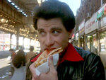 Saturday Night Fever (1977): Double-stacked pizza slices