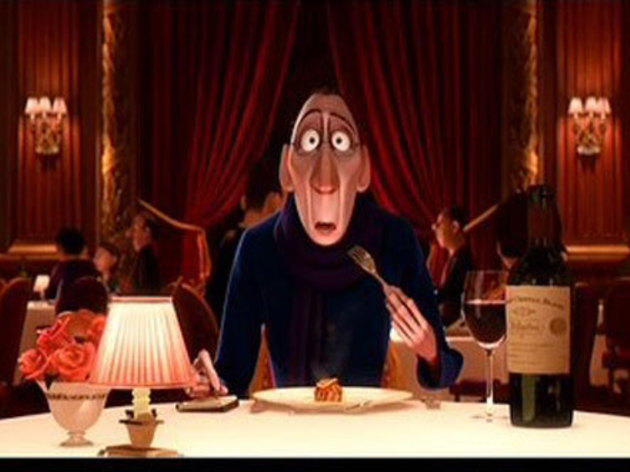 Ratatouille (2007): Anton Ego tastes the ratatouille