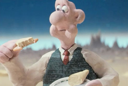 A Grand Day Out with Wallace & Gromit (1989): Pursuit of cheddar cheese