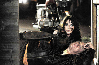 Isabelle Adjani and Gerard Depardieu in Mammuth