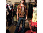 "Patrick Matamoros, 35, owner of Chapel NYC, Chinatown Patrick's t-shirt is from his own collection, Chapel NYC (chapelnyc.com), a vintage clothing company specializing in ""the perfect vintage rock and Harley t-shirts."" His '70s elephant-bell Levi's (levis"