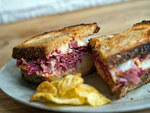 The Reuben at Court Street GrocersCo-owners  Eric Finkelstein and Matt Ross take an artisanal approach to this deli  staple. Two buttery slices of Orwasher's wine bread bookend a mound of  short-rib corned beef, house-cured with salt, cinnamon and pantry'